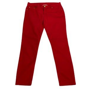 Mossimo Supply Company Red Skinny Jeans Size 11